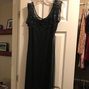 Cache long black cocktail dress size P $25